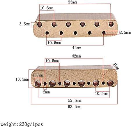 トレモロブラスブロック / 真ちゅう ギタートレモロブロック エレキギター用 アクセサリー 寸法表