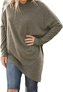 Shawhuwa Womens Oversized Fleece Poncho High Neck Sweater Tops Knitwear