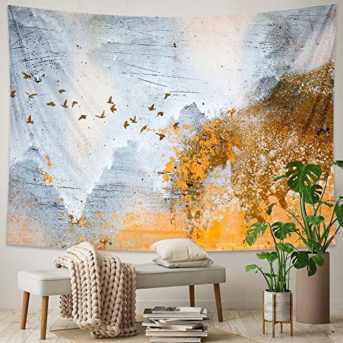 JXGG Tapiz de Pintura al óleo Minimalista Moderno Dormitorio Hippie decoración del hogar Tapiz decoración Bohemia colchón de Yoga sábana 150x130cm