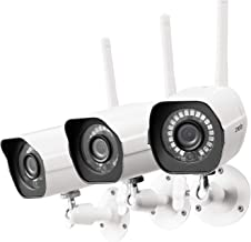 [2021 Upgrade] Zmodo Security Camera Outdoor (3 Pack), 1080p Wireless WiFi, Night Vision,..