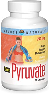 SOURCE NATURALS Diet Pyruvate 750 Mg Capsule, 90 Count