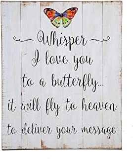 Ganz Wall Plaque Whisper I love you to a butterfly it will fly to heaven to deliver your message