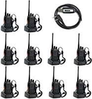 BAOFENG BF-888S UHF 400-470MHz 16CH CTCSS/DCS Hand Held Mobile Amateur 2 Way Radio Walkie Talkie- Long Range (Pack of...