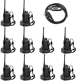 Baofeng BF-888S Two Way Radio (Pack of 10) and USB Programming Cable (1PC)