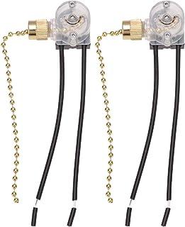 Mobestech Cadena de Extracción de Ventilador de Techo de 2 Piezas Reemplazo de Cadenas de Extensión de Cable de Operador de Interruptor de Luz de Techo de 2 Velocidades