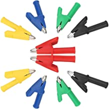 Pack of 10 P2002 20A 5-Color Alligator Clips 4mm Insulated Connection Test Electrical Banana Plug Alligator Clip Multimete...