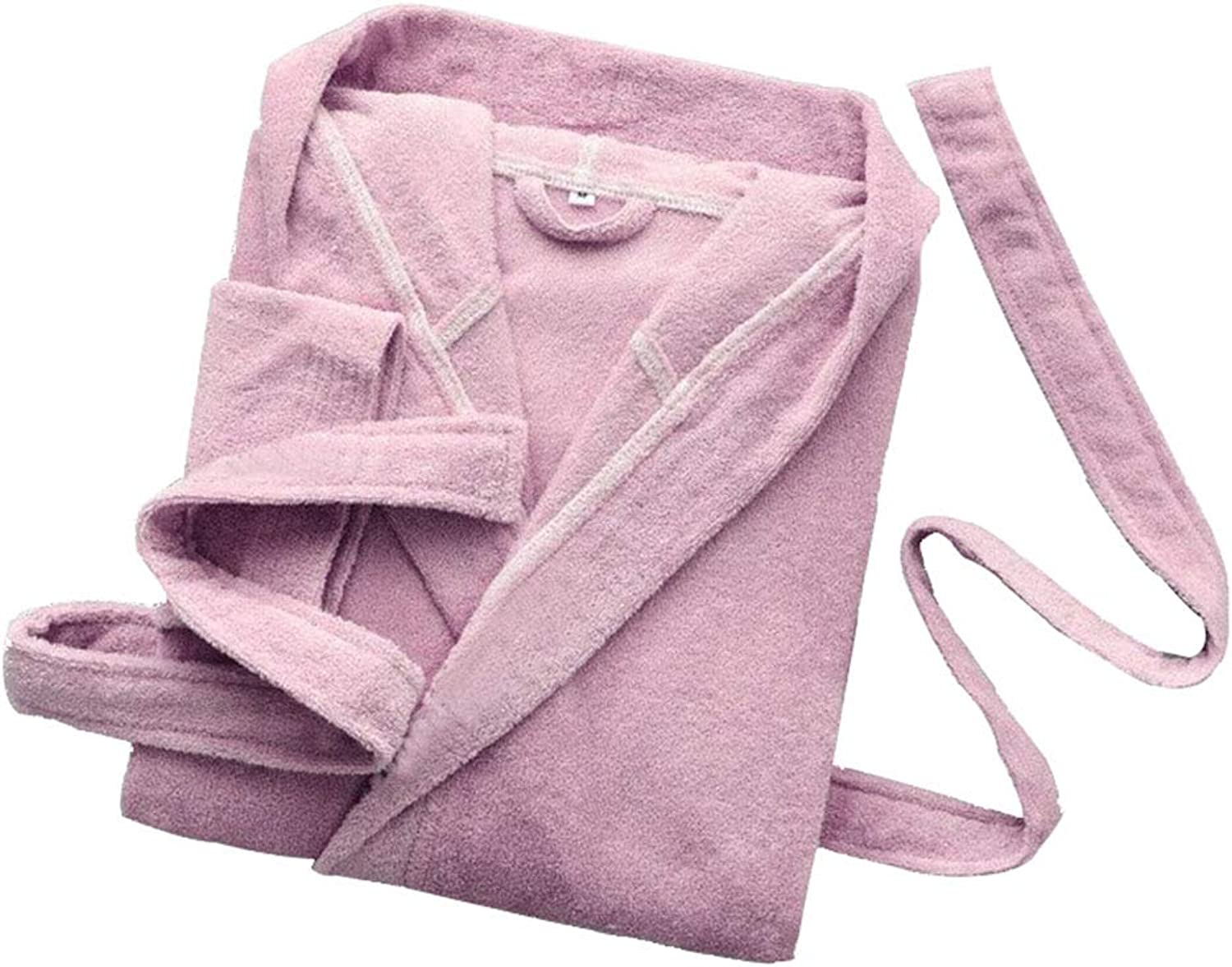 Hooded Bathrobe, Unisex Hotel Cotton Absorbent Towel Robes, Men's and Women's Long Dressing Gowns