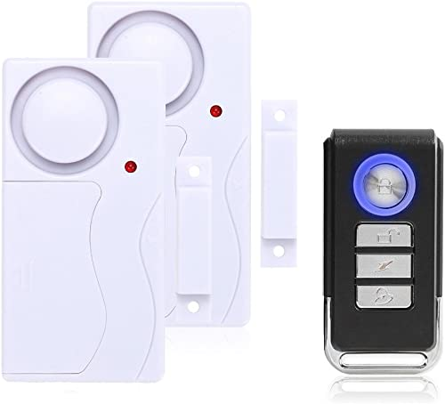Mengshen Door and Window Alarm, Anti-Theft Burglar Wireless Alarm with Remote Control for Home Security, Easy to Inst...