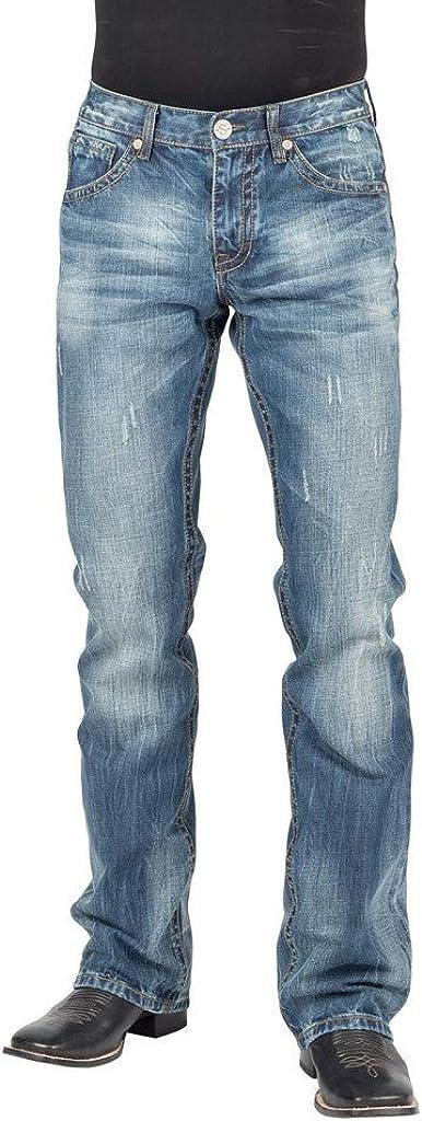 Stetson Men's Rocks Fit Bootcut Blue Jeans x shop 38W Bargain 40L