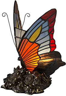 Wind & Weather Stained Glass Butterfly Lamp