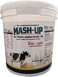 REFIT ANIMAL CARE - Milk & Fat Boosting Mineral Mixture Powder with Granules for Animals (MASH-UP 10 Kg.)