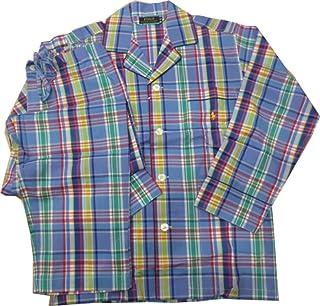 [ポロ ラルフローレン] Polo Ralph Lauren パジャマ 紳士 メンズ 長袖 ポニー刺繍 ブルー 系チェック
