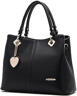 Bagtopia Women's Fashion Leather Top-handle Handbags and Purses OL Casual Tote Crossbody Shoulder Bag Satchel Purse