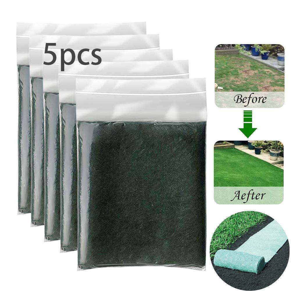 EJOYDUTY Semilla Biodegradable Hierba Mat 10FT - Todo en uno Creciente de soluciones para los céspedes Parches para Perros y Parasol de plantación del jardín de Picnic jardinería Césped Mat,5pack: Amazon.es: Hogar