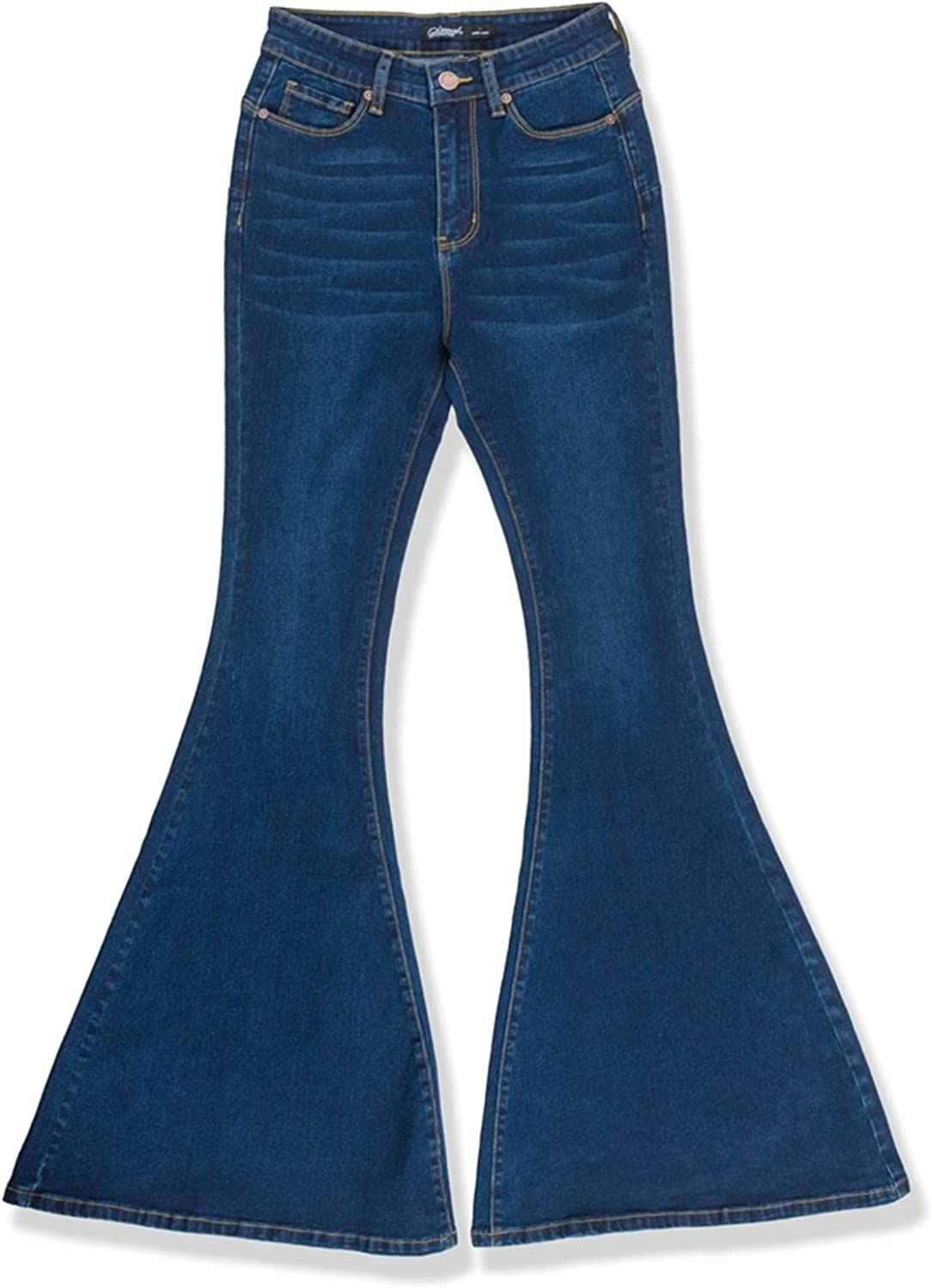 2LUV Women's Stretchy 5 Pocket Distressed Shipping included Waist Skinny Large special price !! Jean High