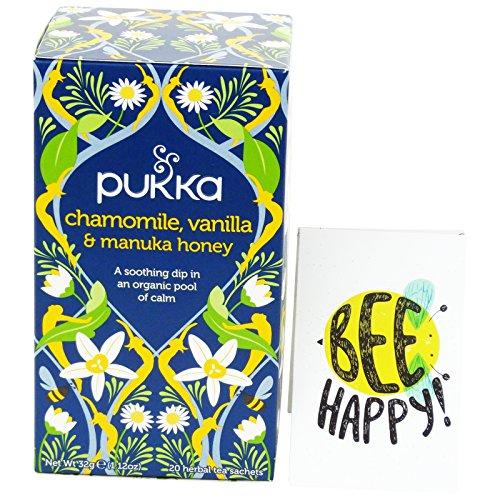 PUKKA - Tisana de Manzanilla Orgánica con Vainilla y Miel de Manuka - Relajante, Ayuda a Dormir - 20 Filtros Vegetales