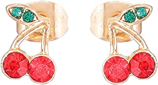 Flying Jewellery Brass Stud Earrings, Push Closure
