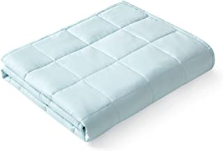 YnM Weighted Blanket — Heavy 100% Oeko-Tex Certified Cotton Material with Premium Glass Beads (Light Blue, 60''x80'' 25lb...