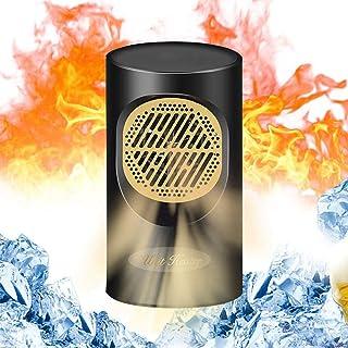 Hamkaw Calefactor de Potencia Mini Tenlso 2s de Calentamiento rápido, Calentador y Enfriador de Ventilador, Calentador eléctrico, sin Ruido, hogar y Oficina, en el Escritorio: sobrecalentamiento