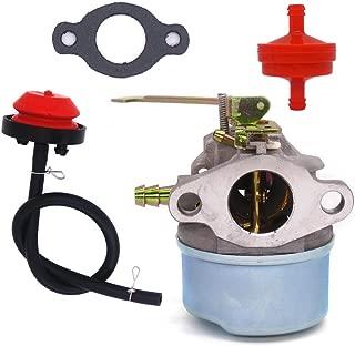 NIMTEK New Carburetor for Tecumseh 3HP 2 Cycle Snowblower 640098A Toro Craftsman MTD Yardmachine with Gasket & Primer Bulb & Fuel