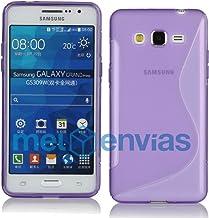Meloenvias Funda para Samsung Galaxy Grand Prime G530H Gel TPU Diseño S-Line Color Morado
