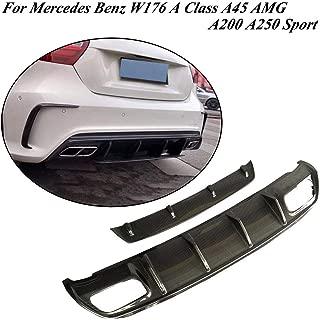 JC SPORTLINE fits Mercedes Benz W176 A Class A45 AMG A180 A200 A250 Sport 2013-2018 Carbon Fiber Rear Diffuser Lip Spoiler