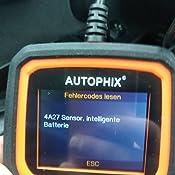 Autophix Obd2 Diagnosegerät Für Bmw Alle Systeme Öl Epb Abs Srs Sas Cbs Bms Tpms Egs Dpf Regeneration Usw Für Obdii Eobd Protokolle Fahrzeuge Nach 1998 Auto
