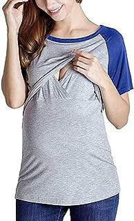 NPSJYQ Camiseta De Maternidad con Mangas Cortas