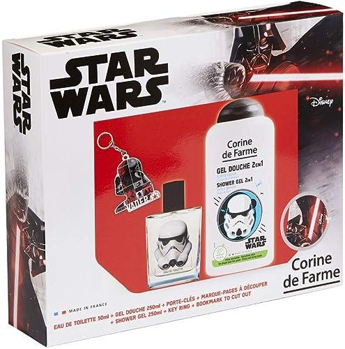 Corine De Farme | Stormtrooper Coffret Cadeau | Star Wars| Parfum Enfant 50ml | Gel Douche Enfant 250ml | Porte-clés ...