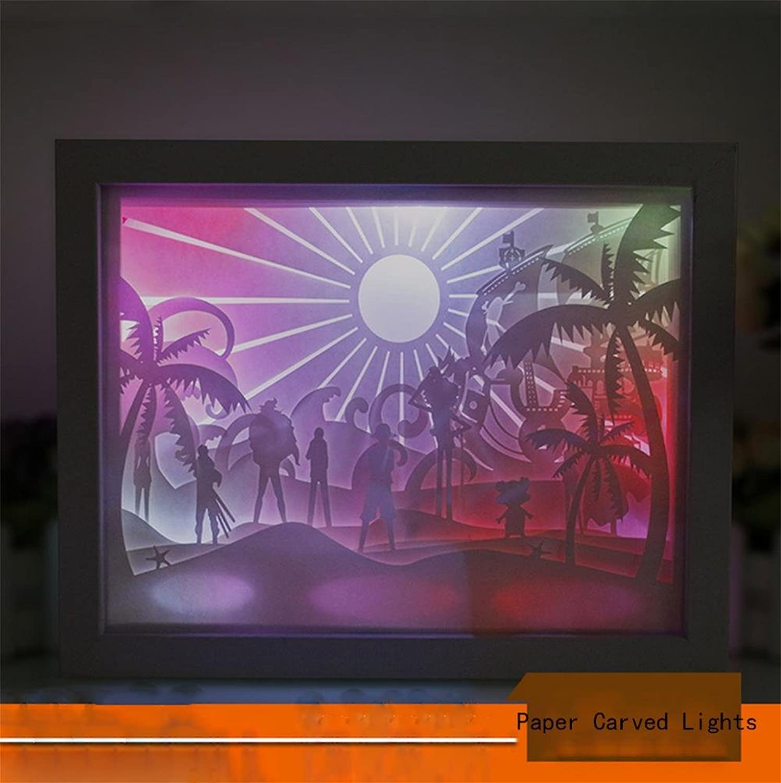 primera reputación de los clientes primero Q & M M M Lámpara de tallar de papel 3d home estéreo Carving Carving paper-cut Creative Night Light  excelentes precios