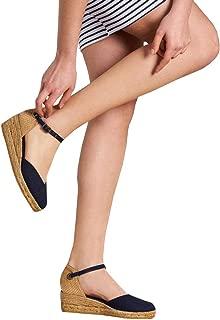 Pxmoda Womens Summer Espadrille Wedge Sandals Fashion Strap Buckle Suede Platform Shoes