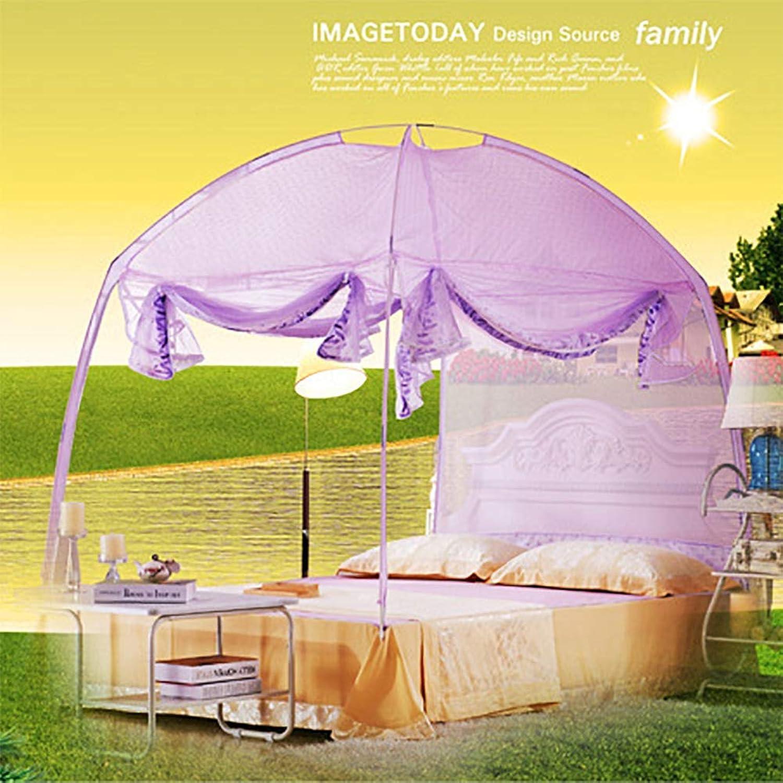 Mosquito Net Mongolian Yurt Design Encrypted Bud Silk Screen Yarn ThreeDoor Design 360° AllEnclosed AntiMosquito Easy Inssizetion,2  2.2m