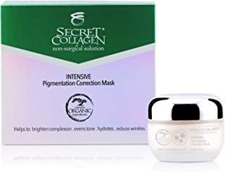 Secret Collagen Pigmentation Correction Mask - Gentle Anti Aging and Hyperpigmentation Solution for Wrinkle and Dark Spot Removal - Sun Spots Lightening Cream for Even Toned Skin