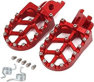 FastPro Reposapiés para Motocicleta Honda CR125/250R CRF150R/250/450 CRF250X CRF450RX/X CRF250L/M CRF250RALLY Kawasaki KX250F/450 KLX450R + Dientes de Resorte