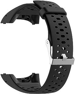INF Correa de repuesto compatible con Polar M400 / M430, correa intercambiable para reloj de carrera con GPS, correa de reloj deportivo, correa de silicona de repuesto, negro