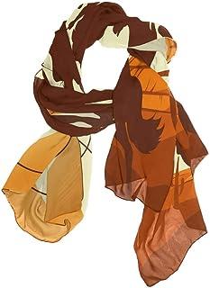 Linomo Women`s Chiffon Silk Large Scarf American Western Cowboys Long Shawl Wrap Silk Like Scarf