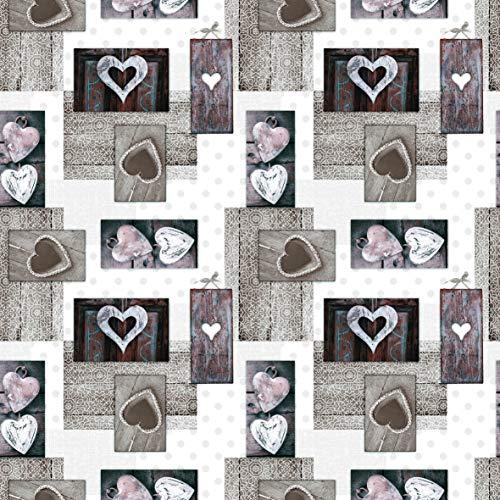 Mambo-Design PVC Tischdecke Valentina grau Wachstuch NEU · Breite & Länge wählbar · abwaschbare Tischdecke, Größe:90 x 90 cm
