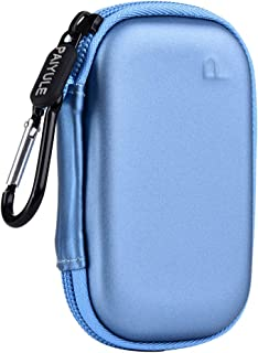PAIYULE Case Compatible for JUUL, Pu Leather Storage Bag with Pods Holder -Blue(CASE ONLY)