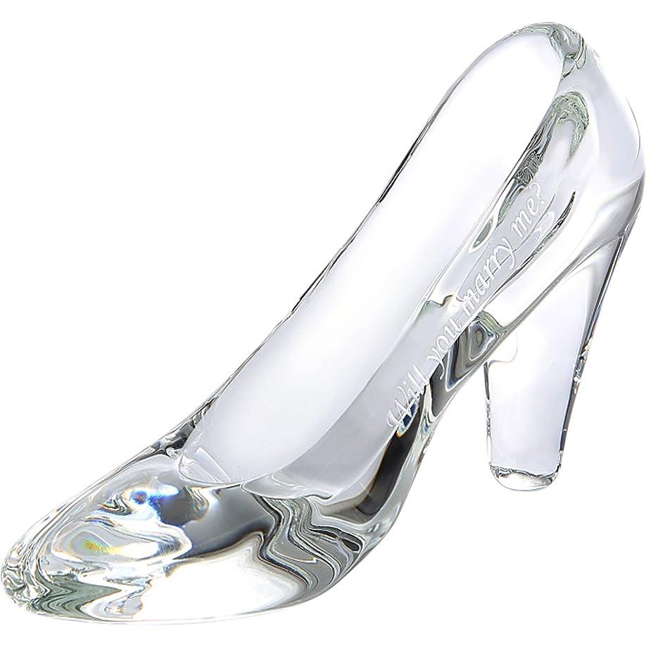 トラブルスキッパーブレスTEATSIGHT ガラスの靴 透明 ガラス製 ハイヒール 彫刻 メッセージ入り (A-08)