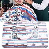 Oyunngs Barber Cape Unisex, Delantal de peluquería Impermeable Antiestático Salón de Corte de Cabello Barber Gown Cape Cloth para el Corte Comercial del Cabello en el hogar