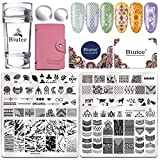 Biutee Nail Art Stamping 10pcs Placas Estampacion Uñas - Cabeza de Silicona Doble
