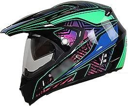 BBJZQ DOT Motocross Helmet Matte Youth ATV MX Helmet with Dual HD Transparent Visors Off Road Downhill All Mountain Riding Helmet Good Ventilation Cross Country Helmet Downhill Helmet