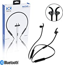 NVX NekTek2 Behind-The-Neck Bluetooth Wireless Headphones - 10 Hour Playback Time - ComfortMax Memory Foam Tips - Fast 40 Minute Charge Time - Built-in Microphone