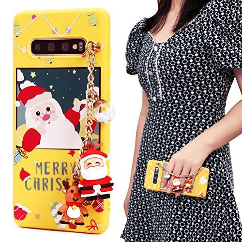 ZhuoFan Funda para Samsung Galaxy S20 FE 5G/S20 Lite de 6,5 pulgadas, funda de silicona amarilla mate con patrón para teléfono móvil, ultrafina, resistente a los golpes, para Navidad 08