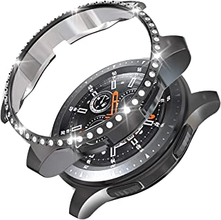 PC Diamond Case for Samsung Gear S3 Frontier SM-R760, Haojavo Soft TPU Plated Protective Bumper Shell Protector for Samsung Gear S3 Frontier/Classical & Galaxy Watch 46mm Smartwatch Bands Accessories
