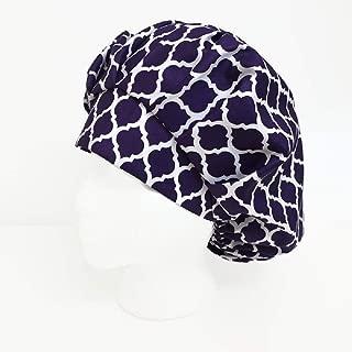 Bouffant Scrub Cap Purple Breeze Scrub Hat OR Hats Womens Scrub Caps