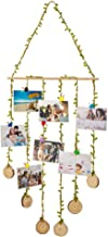 Hanging Photo Display, Wall Hanging Photo Holders Multi Photo Display with 8 Wood Clips and 1 Wall Hook, Picture Holders F...