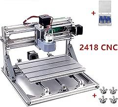 3 Axis DIY Mini 2418 Desktop Small CNC Router Kit Engraver Engraving Milling Pcb Pvc Wood Cutting Carving Laser Machine GRBL Control (24x18x4.0cm)