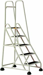 Cramer 1053-19 Stop-Step Ladder 5 Steps with Double Handrail 45-inch High Top Step, Beige