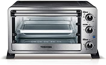 Toshiba 6-Slice Stainless Steel Convection Toaster Oven, MC25CEY-CHSS, New Model
